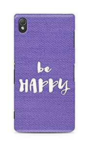 AMEZ be happy Back Cover For Sony Xperia Z3