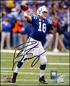 Peyton Manning Indianapolis Colts Autographed Hand Signed 8x10 Photo by Hall of Fame Memorabilia