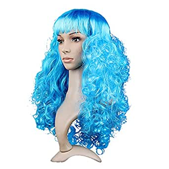 BXT Womens Long Soft Waves Stylish Halloween T-show Cosplay Costume Party Wig