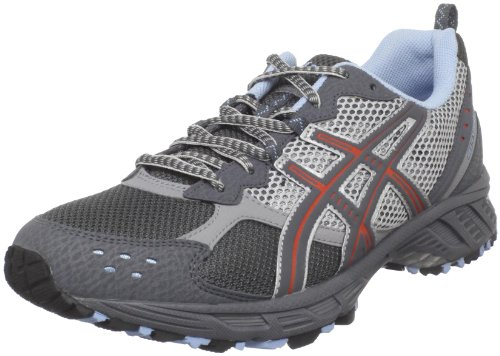 ASICS Women's GEL-Enduro 7 Running Shoe,Titanium/Carbon/Flame,9 M US
