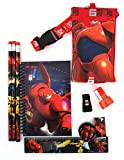 Disney's Big Hero 6 Ten Piece Stationery Set with Baymax, Hiro