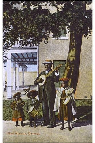 Photographic Print of Blind Musician, Bermuda