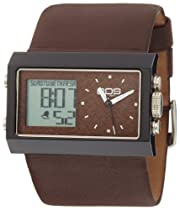 EOS New York Unisex 202SBRN Contrast Analog-Digital Watch