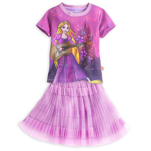 Disney Girls Rapunzel Skirt Set 7/8 Purple (Disney Tangled Clothing compare prices)