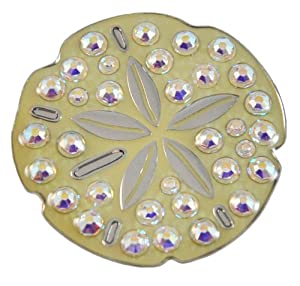 Navika Sand Dollar Swarovski Crystal Ball Marker with Hat Clip by Navika USA Inc.