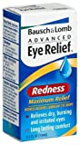 Bausch & Lomb Advanced Eye Relief Maximum Redness Reliver, 0.5-Ounce Bottles (Pack of 6)