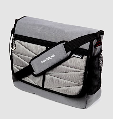 columbia global adventure messenger diaper bag gray diaper supplies direct. Black Bedroom Furniture Sets. Home Design Ideas