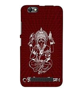 God Ganesha Cute Fashion 3D Hard Polycarbonate Designer Back Case Cover for Lenovo Vibe C :: Lenovo A2020