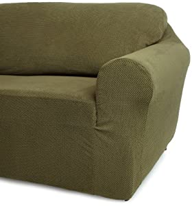 Classic Slipcovers 60 72 Inch Loveseat Cover Olive Green
