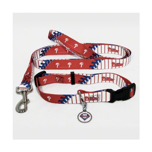 Philadelphia Phillies MLB Dog Collar & Leash Set (Medium) at Amazon.com