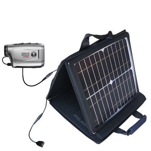Gomadic Sunvolt Powerful And Portable Solar Charger Suitable For The Bushnell Hybrid Laser Gps - Incredible Charge Speeds For Up To Two Devices