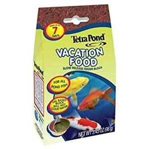 TetraPond Vacation Food, Slow Release Feeder Block, 3.45 Ounces