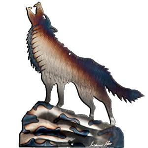 Wolf Design Metal Wall Art by Richard Pell Creative Metalwork