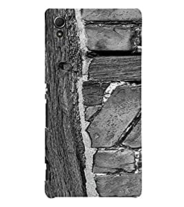 PrintVisa Wooden Design 3D Hard Polycarbonate Designer Back Case Cover for Sony Xperia Z3 + Plus
