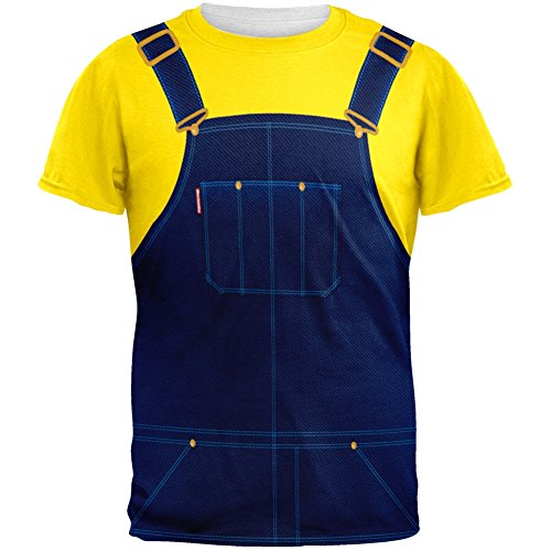 Halloween Overalls Yellow T-Shirt Costume All Over Adult T-Shirt