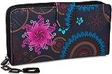 styleBREAKER Geldbörse mit Ethno Blumen und Blüten Muster
