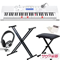CASIO カシオ キーボード LK-218 サクラ楽器オリジナルセット[スタンド・イス・ヘッドフォン・クリーニングクロス付き]【LK218】