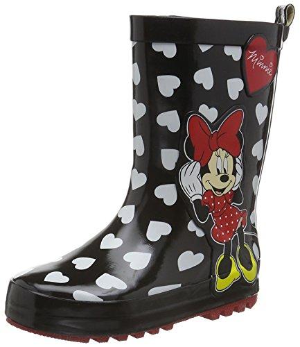 Minnie-Mouse-Mdchen-Girls-Kids-Rainboots-Boots-Kurzschaft-Gummistiefel-Schwarz-BlkHre-140-30-EU