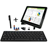 Bestdeal® Ultra Slim Wireless Mini Keyboard and Portable Fold-Up Stand SET for ASUS Transformer Pad TF103C & TF103CX 10.1'' Tablet PC + EXTRAS