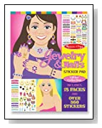 Melissa & Doug Jewelry and Nails Glitter Collection Sticker Pad