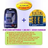 CHARGER + 8AA 2700MAH BATTERIES FOR PENTAX OPTIO K100D K110D 50L E10 M20 M10 60 *IST DS 50 S45 S40 D 33LF 43WR S30