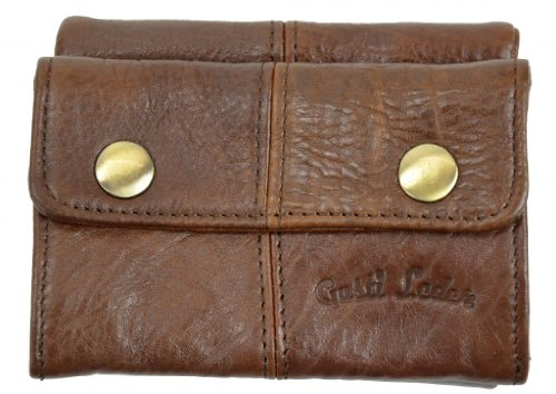 Wallet Gusti Genuine Leather Purse Portemonnaie Billfold Credit Card Holder Money Case Coin Pocket Unisex Brown A23