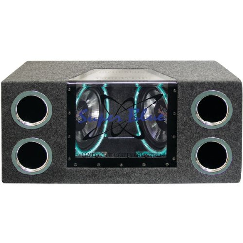 "Pyramid Dual 10"" 1000 Watt Bandpass Speaker System W/Neon Accent Lighting"