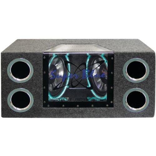 "Pyramid Dual 10"" 1000 Watt Bandpass Speaker System W/Neon Accent Lighting"