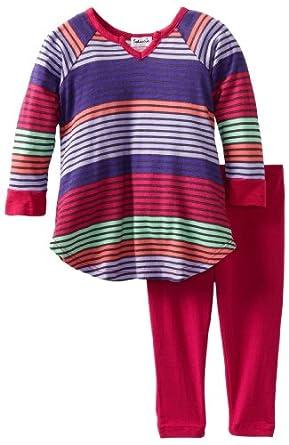 Splendid Littles Baby-girls Newborn Camden Stripe Tunic Set, Sprinkles, 6-12 Months