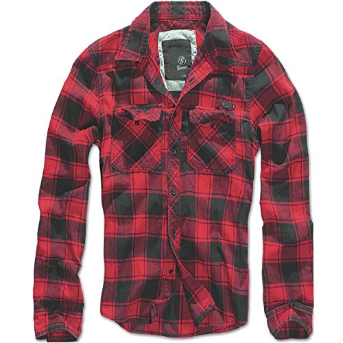 Brandit Checkshirt Camicia rosso/nero XXL
