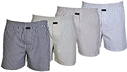 Careus Men's Cotton Boxers (Pack of 4)(15_16_17_13_Multi-coloured_Large)
