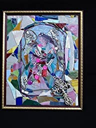 Angel Glass mosaic picture wall Art 16 x 13\