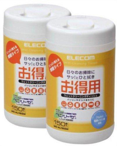ELECOM お徳用クリーニングティッシュ150枚入り(2本セット) WC-AL150W