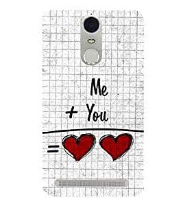 Me and You 3D Hard Polycarbonate Designer Back Case Cover for Lenovo K5 Note :: Lenovo Vibe K5 Note Pro