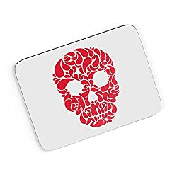 PosterGuy A4 Mouse Pad - Red Flower Skull Head | Designed by: Designer Chennai