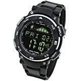 Amazon.co.jp[LAD WEATHER] タイドグラフ腕時計 ムーンデータ ペースメーカー、月齢表示 釣り/サーフィン/ダイビング 反転液晶