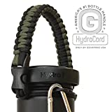 Hydro Flask Water Bottle Holder from Americas #1 in Paracord Bottle Carriers | HydroCord Survival Strap and Safety Ring for Wide Mouth Hydro Flasks, Nalgene Water Bottles, 16 Colors