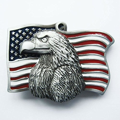 America Eagle Flag Belt Buckle