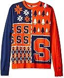 NCAA Syracuse Orange Busy Block Ugly Sweater, Medium, Orange