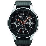 Samsung Galaxy Watch (46mm) Silver (Bluetooth), SM-R800NZSCXAR - Bundle (Certified Refurbished) (Color: Black)