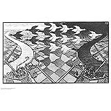 (22x34) M.C. Escher (Day and Night) Art Poster Print