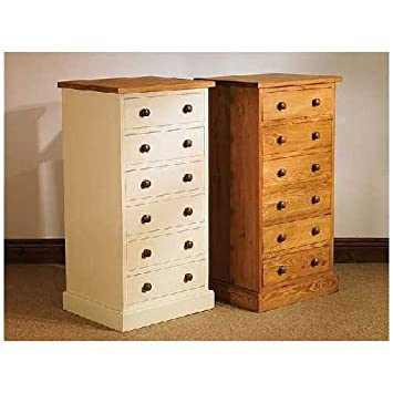 Harrogate WAXED PINE furniture tallboy chest of drawers