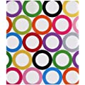 Studio C Sugarland Collection Circles 1-inch Vinyl Binder Multicolored (95693)