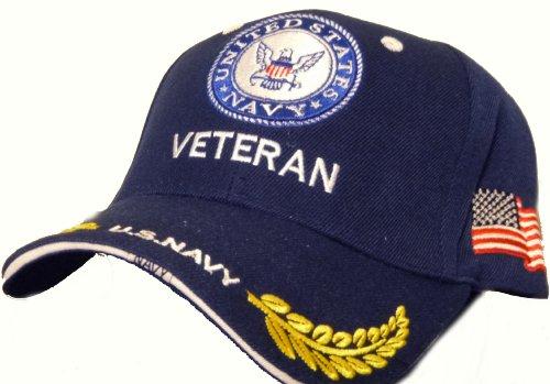 U.S. Navy Veteran Baseball Cap Blue And White United States Wreaths
