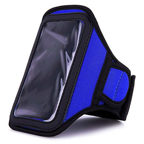 Athlete'S Choice Blue Neoprene Workout Armband For Samsung Galaxy Reverb / Samsung Galaxy Stellar / Samsung Galaxy S Duos / Samsung Omnia M / Samsung Galaxy S Lightray 4G / Samsung Galaxy Beam / Samsung Rugby Smart / Samsung Galaxy S Advance / Samsung Gal