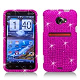 51%2BVH266BlL. SL160  Rhinestone Diamond Crystal Bling Hard Plastic Case for Sprint HTC EVO 4G LTE   Hot Pink
