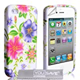 iPhone 4 / 4S Pink And Purple Floral Silicone Caseby Yousave Accessories�