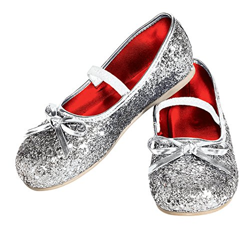 Rubie's Costume Silver Glitter Child Flat Shoes, One Color, Toddler