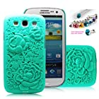 Cocoz®fukki Mint Green Peony Carved Palace Fashion Design Samsung Galaxy S III I9300 Hard Case Cover Skin Retail Packing(pc) -H010