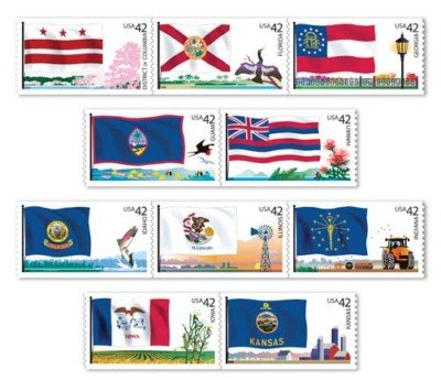 Flags of Our Nation Set # 2 of 6 50 x 42 cent US Stamps
